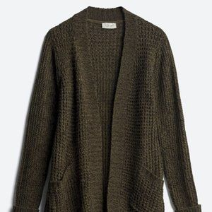 RD STYLE Open Cardigan, Olive Green, Size L